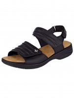 Nahkaiset rieker-sandaalit Rieker musta